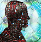 Homme de technologie illustration de vecteur