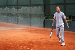 Homme de tennis Photos stock