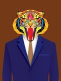 Homme de tigre avec le style géométrique Photo libre de droits