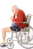 Homme de vétéran handicapé dans le fauteuil roulant Image libre de droits