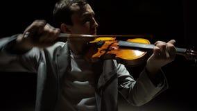Homme de violoniste de musicien jouant le violon clips vidéos