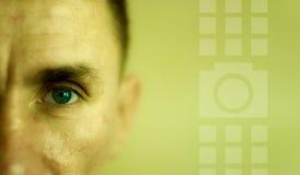 Homme de visage de plan rapproché Photographie stock