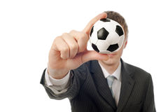 Homme de visage du football Photos stock