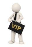 homme des affaires 3d avec la serviette de VIP Photo stock