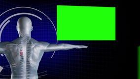 Homme digitalement créé avec des écrans de clé de chroma illustration stock