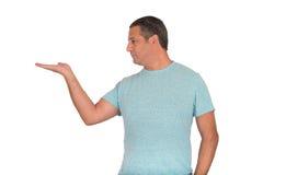 Homme donnant la main Image libre de droits
