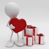 Homme donnant son coeur Image libre de droits