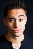 Homme drôle incrédule avec le sourcil augmenté Photos libres de droits