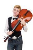 Homme drôle avec le violon Image libre de droits