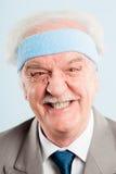 Fond élevé de bleu de définition d'homme personnes drôles de portrait de vraies Photo stock