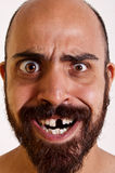 Homme drôle sans dent Photographie stock