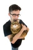 homme du Maine de ragondin de chat Photos libres de droits