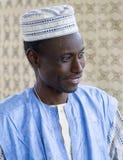 Homme du Mali, Afrique, marché d'art folklorique, Santa Fe Images stock