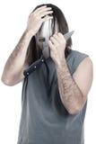 Homme effrayant psychopathe déprimé Images libres de droits