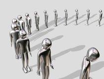 Homme en aluminium faisant la queue illustration libre de droits