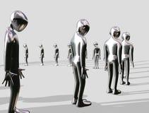 Homme en aluminium faisant la queue illustration stock