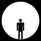 Homme en boucle Image libre de droits