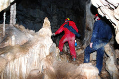 Homme en caverne Photographie stock