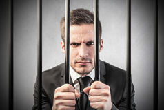 Homme en prison Photo stock