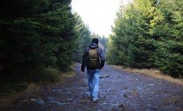 Homme en voyage Image libre de droits