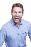 Homme enthousiaste Photographie stock libre de droits