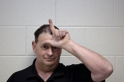 Homme espiègle photo stock