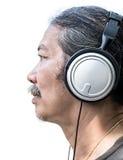 Homme et écouteur Photos libres de droits