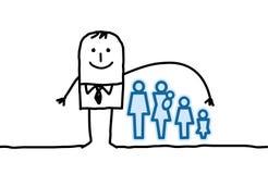 Homme et assurance-vie Photo stock