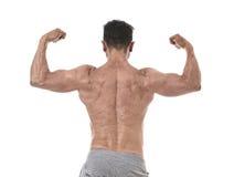 Homme et bodybuilder hispaniques de sport dans les WI d'entreprise de pose d'attitude Image stock