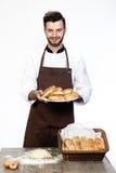 Homme et boulangerie Photos libres de droits