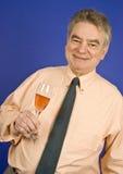Homme et Champagne image libre de droits