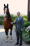 Homme et cheval Photos stock