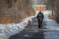 Homme et chien Images libres de droits