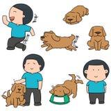 Homme et chien Photo stock