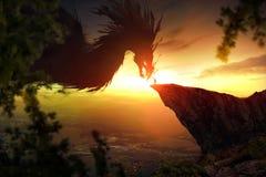 Homme et dragon