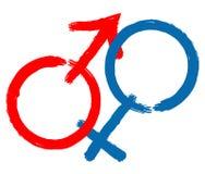Homme et femme Illustration Libre de Droits