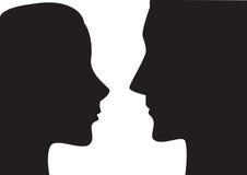 Homme et femme illustration stock