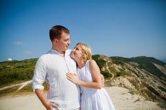 Homme et femme affectueux Photo stock