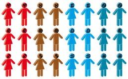 Homme et femme avec le signe de zodiaque Image libre de droits