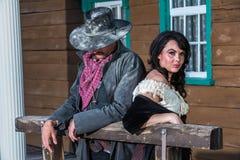 Homme et femme bourrus Images libres de droits