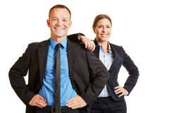 Homme et femme comme équipe d'affaires Images libres de droits