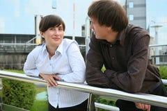 Homme et femme d'affaires image stock