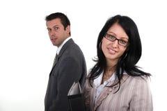 Homme et femme d'affaires Photographie stock libre de droits