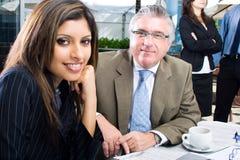 Homme et femme d'affaires Image libre de droits