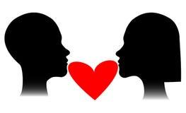 Homme et femme d'amant Photo libre de droits