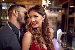Homme et femme dans des relations romantiques Photographie stock libre de droits