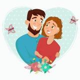 Homme et femme dans l'amour Illustration Libre de Droits