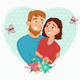 Homme et femme dans l'amour Illustration de Vecteur