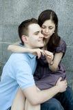 Homme et femme dans l'amour pour la première fois. Photos libres de droits