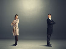 Homme et femme dans la querelle Photos stock